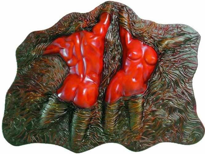 together, leather artwork