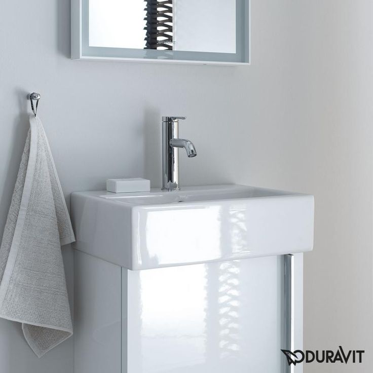 Pic Of Duravit Vero Air hand washbasin white with tap hole ungrounded with overflow