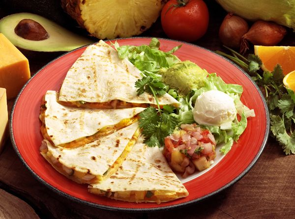 Receta Saludable de Quesadillas