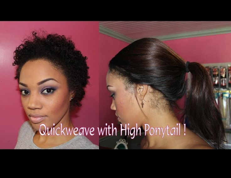 Quick Weave With A High Ponytail Tutorial [Video