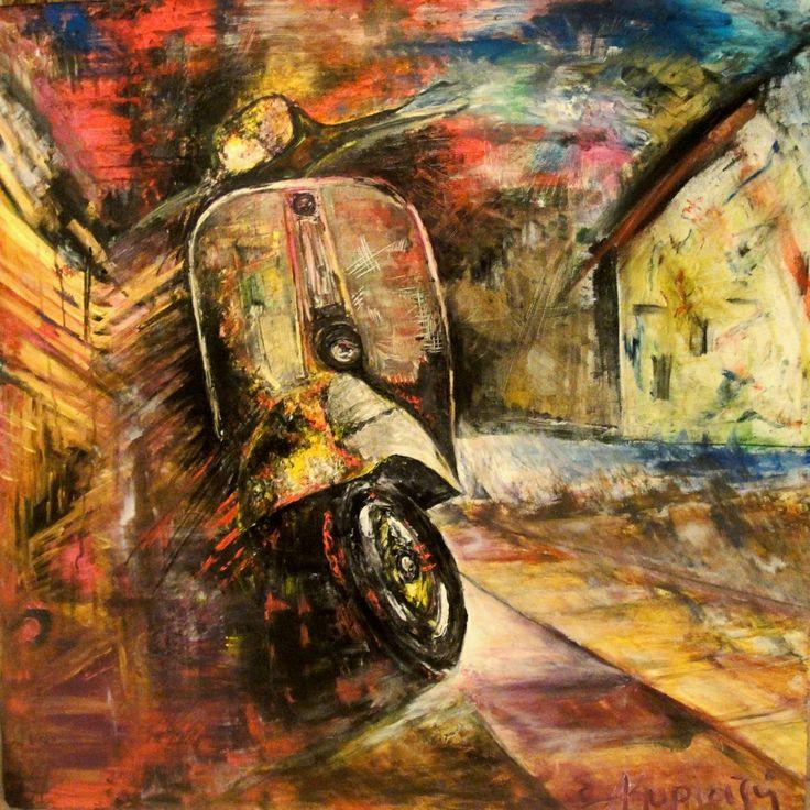 vespa 100x100cm acrylic on canvas
