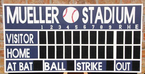 Personalized baseball scoreboard Baseball by StayAtHomeRN on Etsy