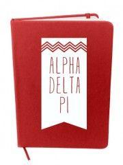 Alpha Delta Pi Chevron Notebook