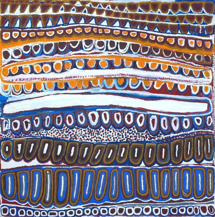 Titre de l'œuvre : Kaarkurutintya (Lake MacDonald) Format : 122 x 121 cm Art Aborigène - Ikuntji Artists Référence de la peinture : IK06NJMJCM198 Demander le prix de l'œuvre