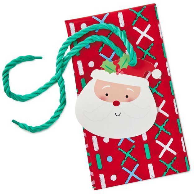 """Sweater Pattern Giant Plastic Gift Bag With Santa Tag and Tie, 56"""""""