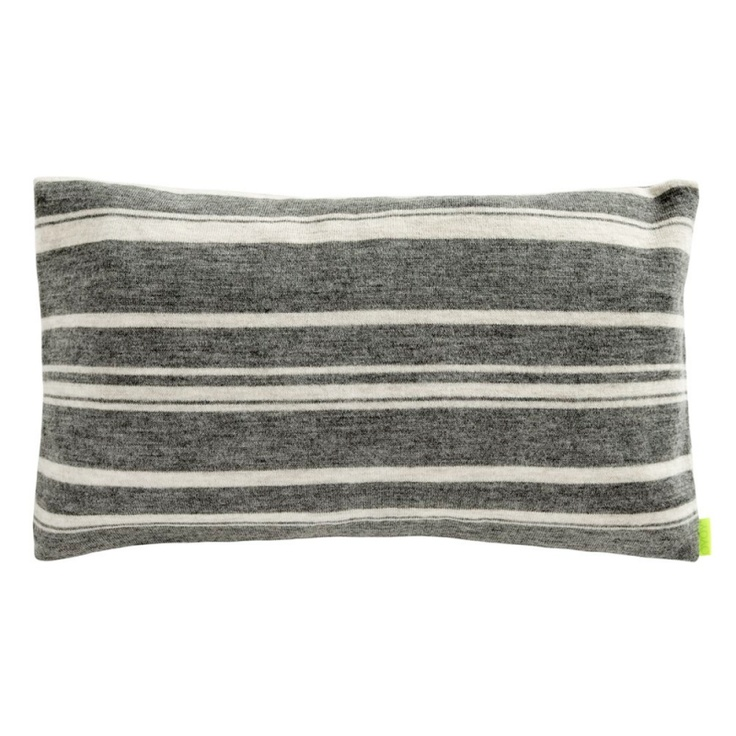 Stripy cushion grey