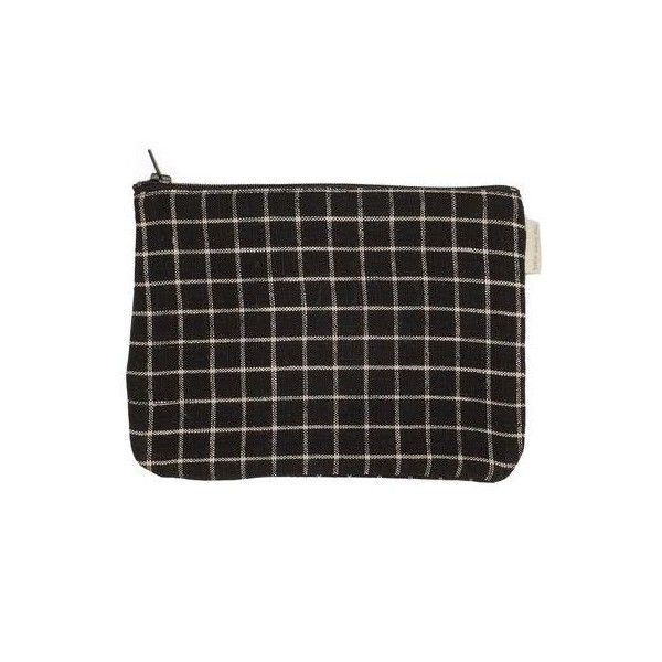 Bonica Pouch Black ($15) ❤ liked on Polyvore featuring home, home decor, japanese home decor, japanese pen case, black zipper pouch, zip pencil case and japanese pencil pouch