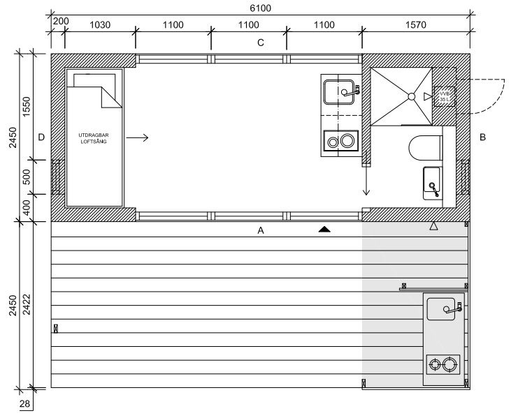 Mini House 2.0 - Tiny House - Jonas Wagell - Sweden - Floor Plan - Humble Homes