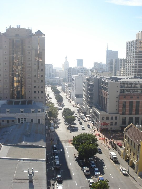 View from the top - Further down Bree Street, towards the Foreshore