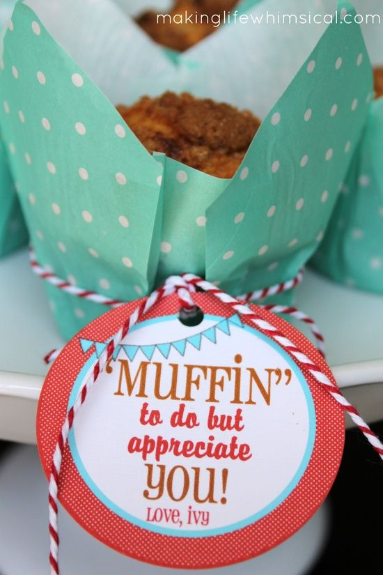 Quot Muffin Quot To Do But Appreciate You Cute For Teacher