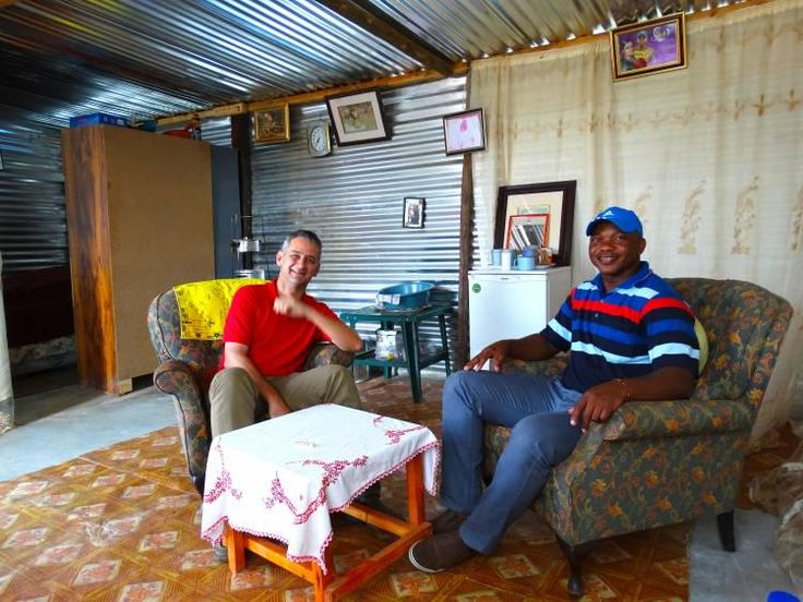 Owner Rolf Steiner visits our barman Ernest