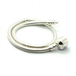 Silver Pandora Style Bead Bracelet. $14.00