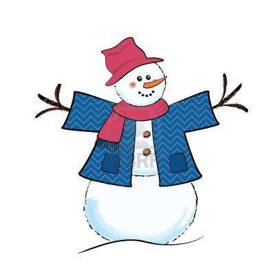 muñeco de nieve dibujo - Buscar con Google