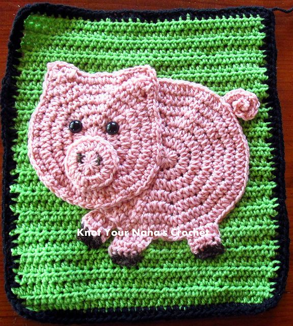 Ravelry: Pig Applique pattern by Teri Heathcote