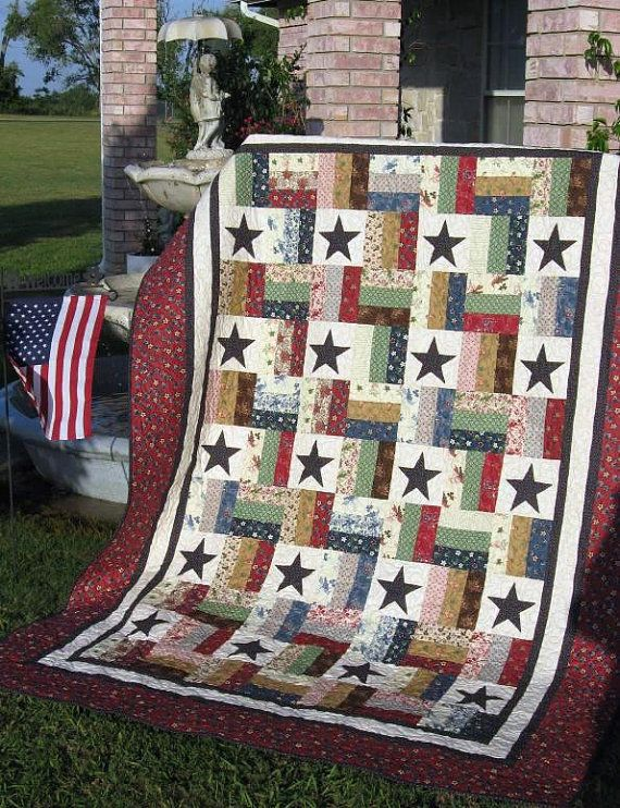 Stars and Stripes    A Jelly Roll Quilt Pattern by PureJoyPatterns, $9.00