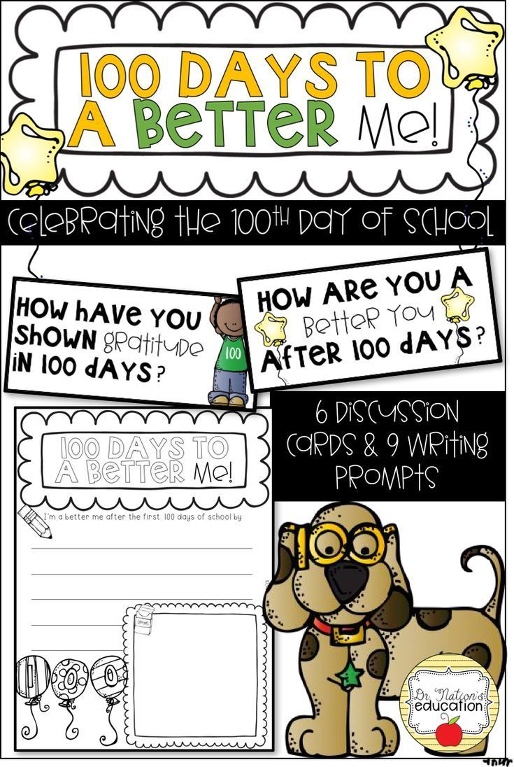 100 Days To A Better Me Celebrating The 100th Day Of School Mit