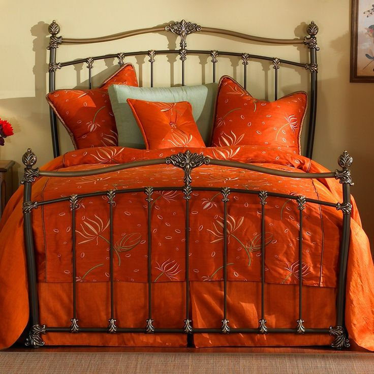 Merrick Iron Bed by Wesley Allen Brass Mocha Finish