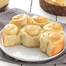 Buttery Sourdough buns ... Buttery spirals with a pleasingly mild sourdough tang, they're soft on the inside, but sport a wonderfully crisp crust — think crescent roll. And, like a crescent roll, they're fun to unravel and enjoy bit by buttery bit!