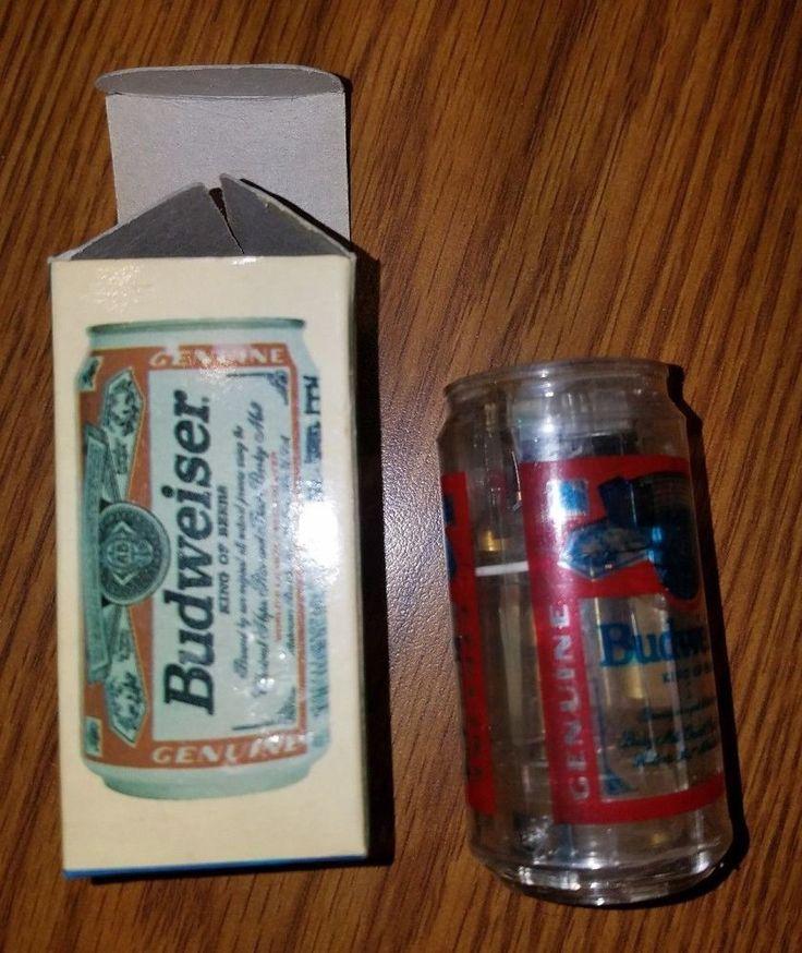 Vintage Budweiser Lighter 99 - Clear Lights Up Red & Green Flashing Bud Beer #Lighter99