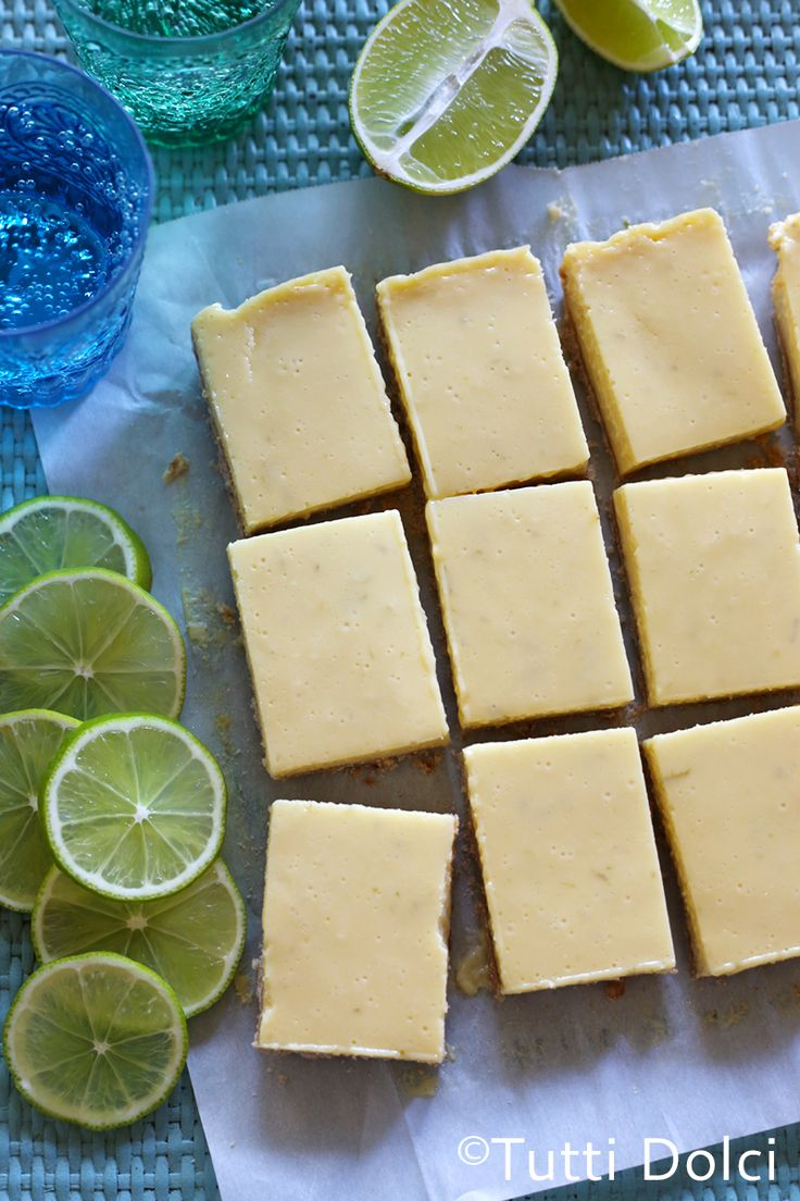 Lime Bars - these melt-in-your-mouth lime bars are sweet, tangy, and creamy!