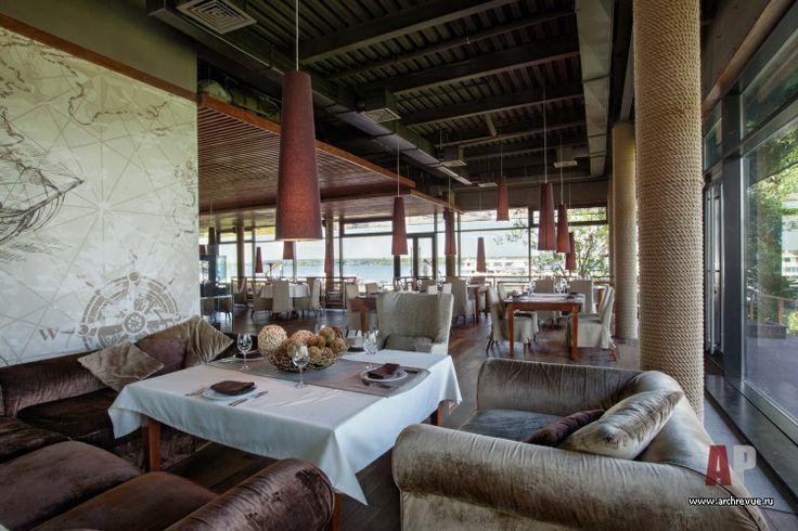 Дизайн интерьер ресторана с причалом в Пирогово | #Restaurant #interior #design with a berth in Pyrohiv