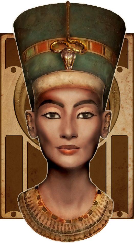 Nefertiti Digirestoration by ~Ciro1984 on deviantART Isis digital art drawing egyptian goddess