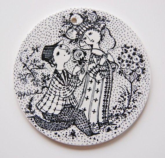 Bjorn Wiinblad plate  Roser  June by OldAndCold on Etsy, $22.00