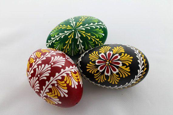 Set No. 1 - Pysanki Polish HandMade Easter Eggs, Pysanky