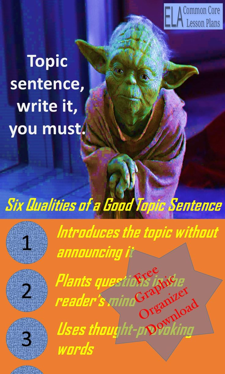 best ideas about topic sentences paragraph you don t need the force to write a good topic sentence you just