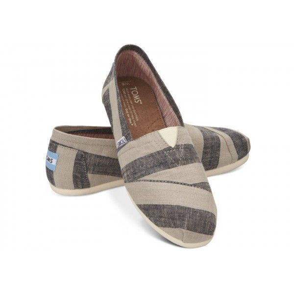 Beige And Navy Stripes Womens Classics