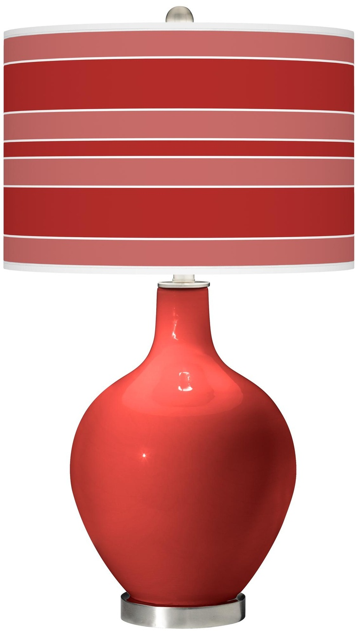 104 best red lighting and home dcor images on pinterest bulb cherry tomato bold stripe ovo table lamp aloadofball Gallery