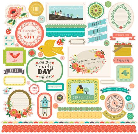 Echo Park - Simple Life Collection - 12 x 12 Cardstock Stickers - Elements at Scrapbook.com