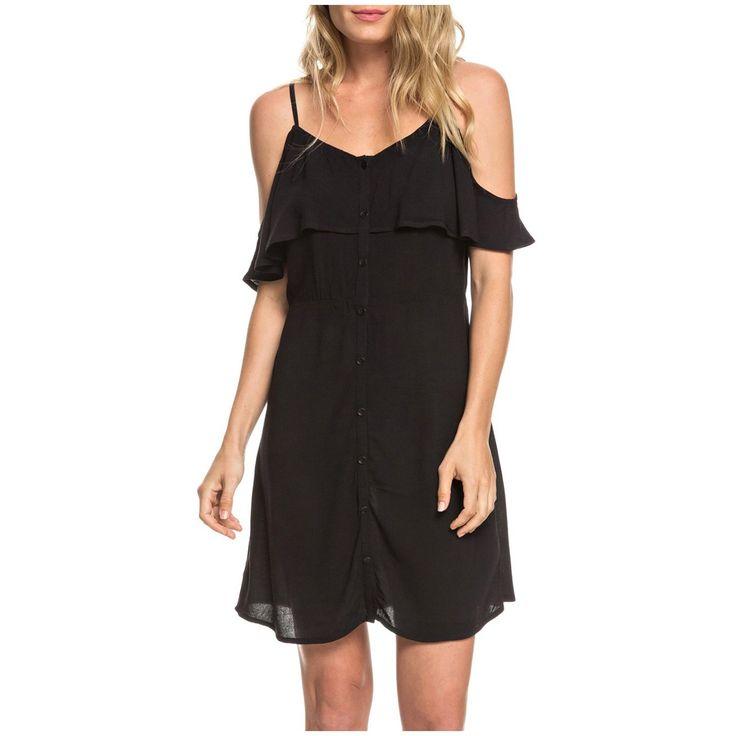 Women's Roxy Hot Spring Streets Dress 2019 – Large Black | Viscose