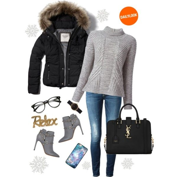 A fashion look from December 2014 featuring Duffy sweaters, Abercrombie & Fitch jackets and Dondup jeans. Browse and shop related looks.