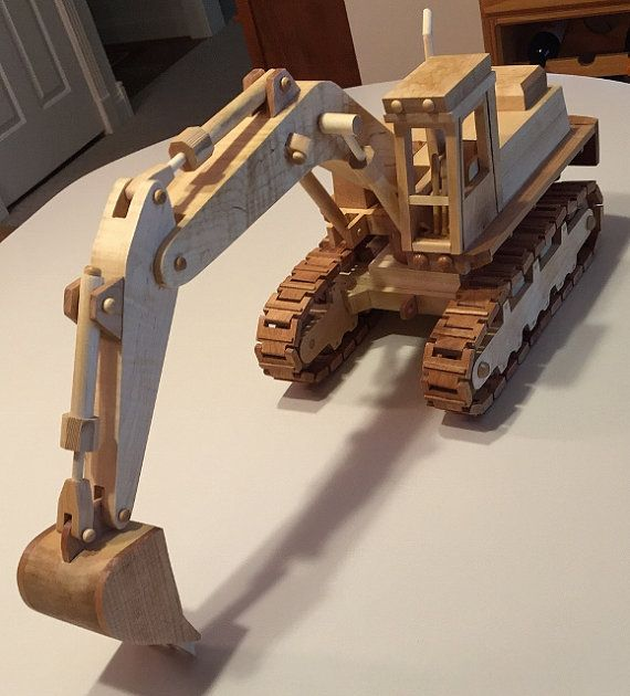 Model Excavator made from all hardwood. by Woodpensforfriends