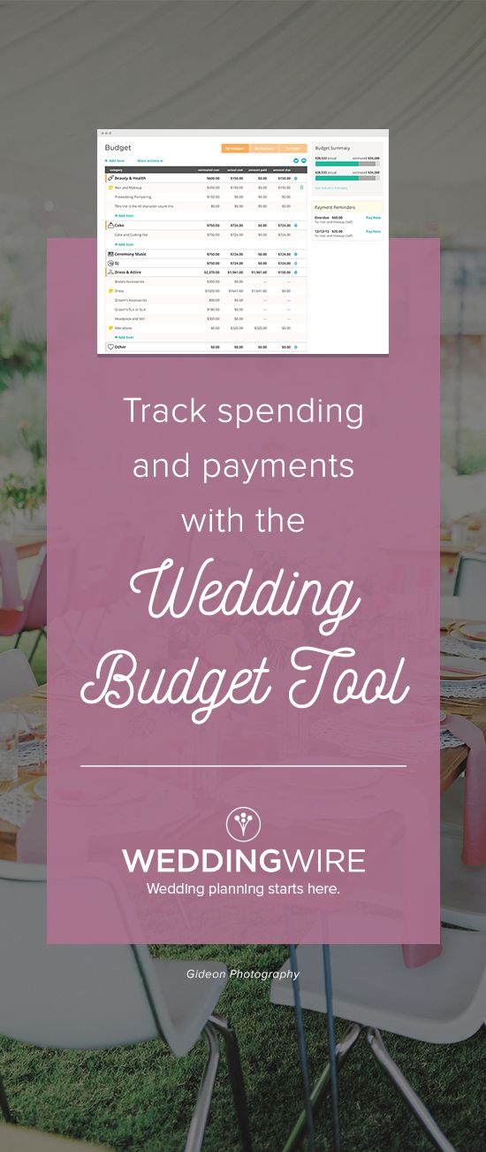 Easily stay within your budget using our free wedding budget calculator!