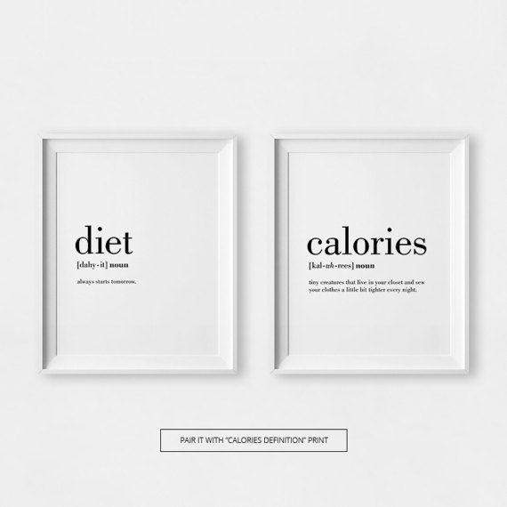 Diät Definition Print druckbare Küchenkunst