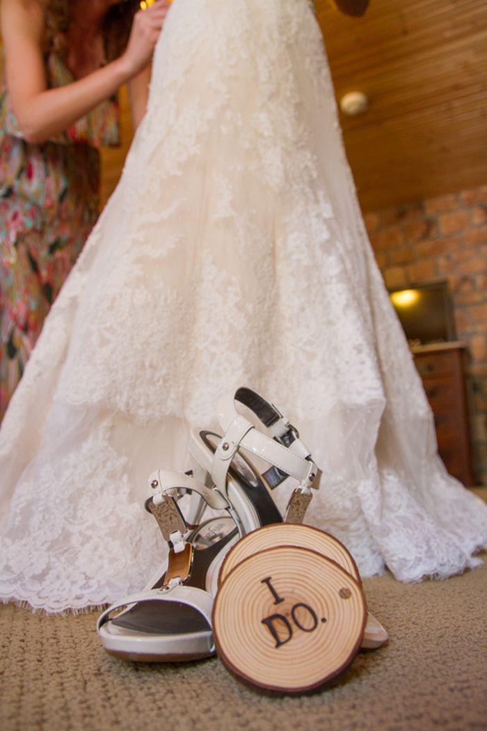 Wedding Dress Shot | Rustic Mountain Wedding with Sunny Yellow Details