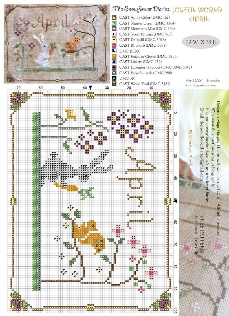 The Snowflower Diaries: JOYFUL WORLD - APRIL PATTERN:-)