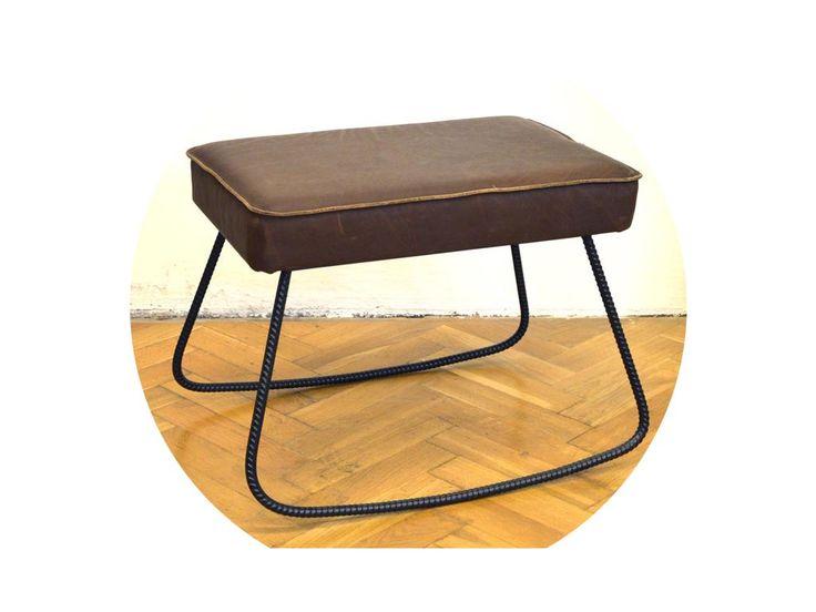 Húpacia sedačka - posedenie z roksorovej konštrukcie a koženého sedáku.   VOLITEĽNÁ FARBA ROKSORU