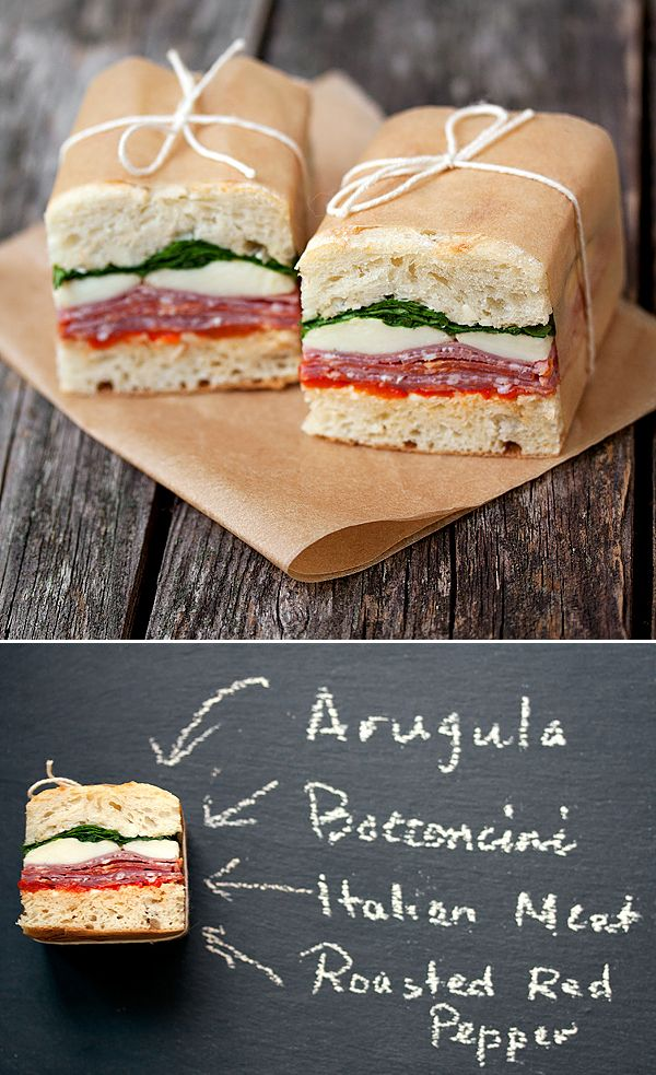 Picnic Perfect. Pressed Italian Sandwiches |  Pinned by Tara Blais Davison