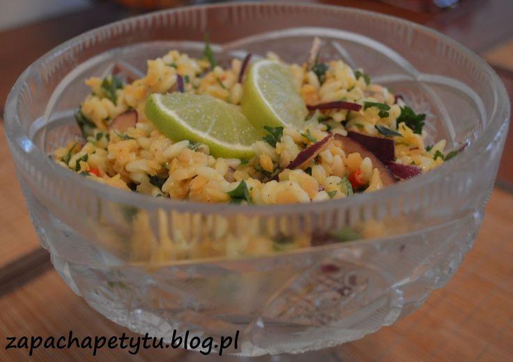 Pikantna sałatka z makaronem orzo i soczewicą #orzo #polishgirl #foodblog #health