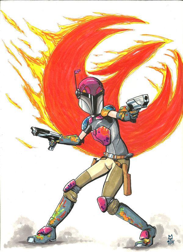Sabine Wren- Star Wars Rebels by Krayola-Kidd on deviantART.