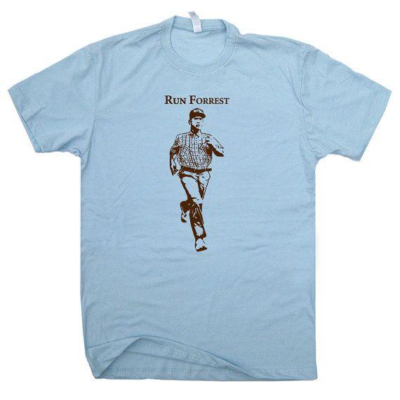 Running T Shirt Runner T Shirt Run Forrest Gump by Shirtmandude
