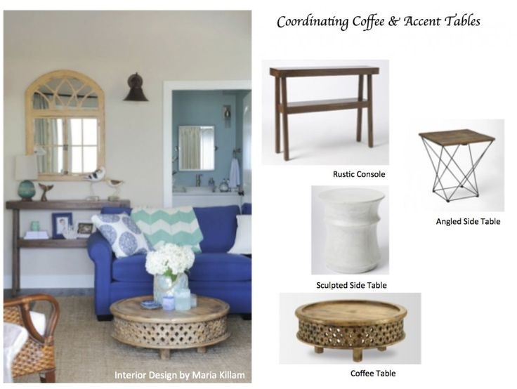How To Coordinate Coffee U0026 Accent Tables Like A Designer | Maria Killam