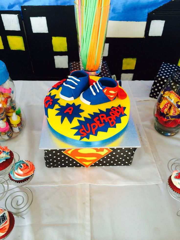 Superman Baby Shower Theme. Cake