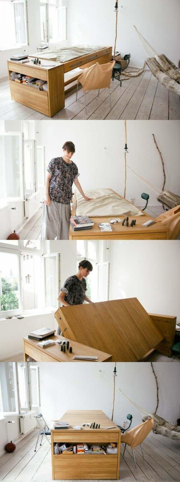 Wie man Platz für ein Bett zu Hause spart