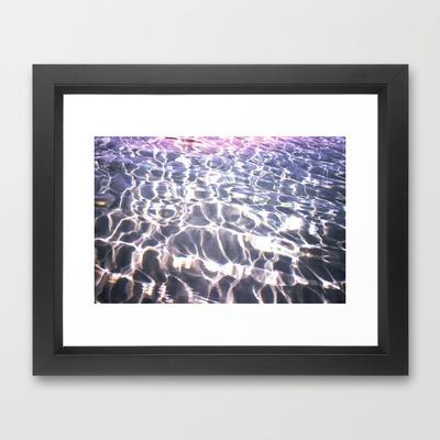 Lights into Water Framed Art Print by Aziza Vasco - $38.00