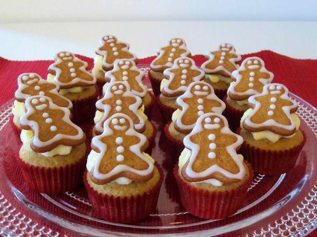 Herkkuja leipomassa: Piparkakkukuppikakut/ Gingerbread Cupcakes