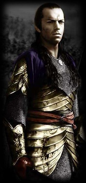 Elrond's Prologue (Dagorlad) Armor. I LOVE this suit of armour - sometimes I watch the prologue just for the elven armour.